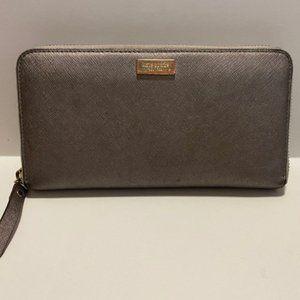 Kate spade slate grey continental wallet